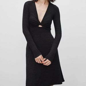 Wilfred Free Black Paige Capsule Knit Dress S NWT
